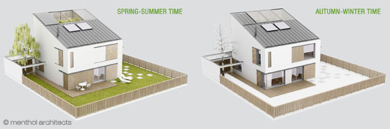 passive house summer winter