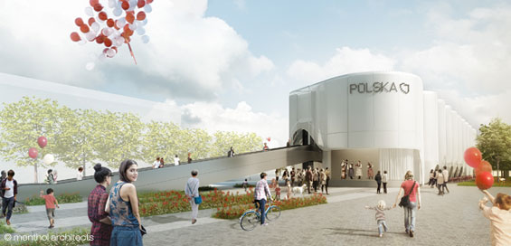 polish pavilion Expo 2015 day view