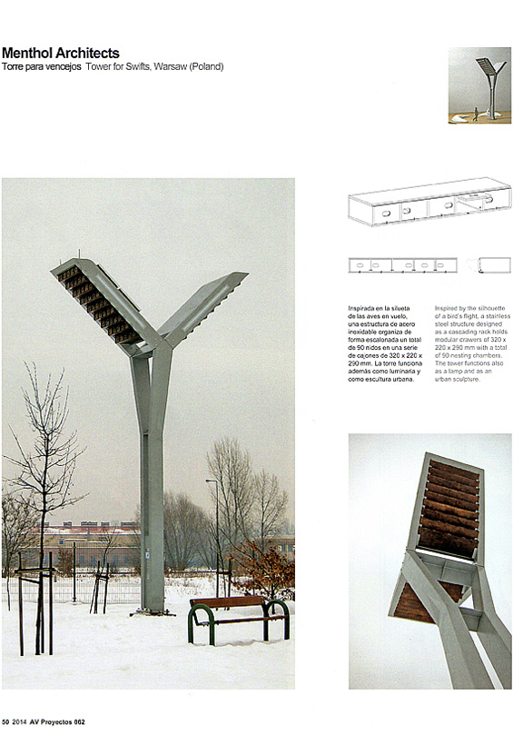 Tower for Swifts Arquitectura Viva page 50