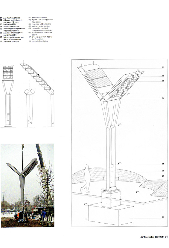 Tower for Swifts Arquitectura Viva page 51